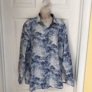 Tommy Bahama Mens Shirt S Large Floral Long Sleeve